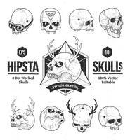 hipsta skalle vektor