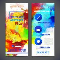 Buntes abstraktes Vektor-Schablonen-Design