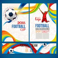 Bakgrundskoncept av spelare med fotbollskula.