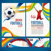 Hintergrundkonzept des Spielers mit Fußballkugel.