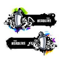 Graffiti-Banner vektor