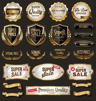 högsta kvalitet guld märken och etiketter