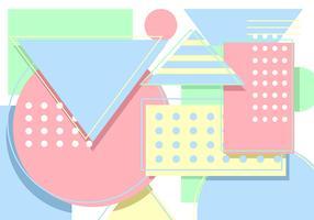 Geometrischer Pastellhintergrund vektor