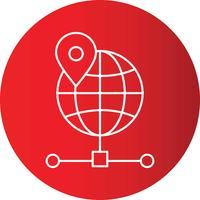Gradient Line Circle Perfekt ikonvektor eller piktogramillustration