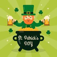 St. Patrick's Day Hintergrund vektor