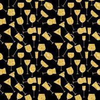 Martini Glas nahtlose Muster Vektor iillustration