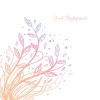 Handdragen Dekorativ Blom Bakgrund