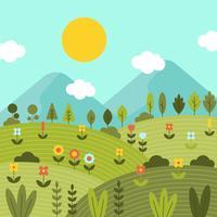 Natur Frühling Wallpaper Vektor
