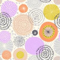 Nahtloses Muster des Vektors mit Tintenkreisbeschaffenheiten