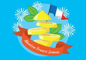 Zitronen-Festival-Illustration Menton Frankreich