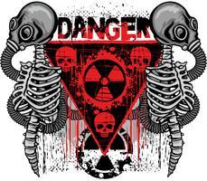 industrielles Emblem mit Totenkopf