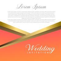 Hochzeits-Einladungskarte vektor