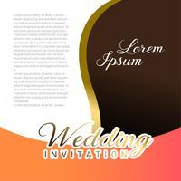 Hochzeits-Einladungskarte mit Textplatz vektor