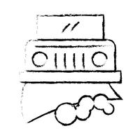 Grov linje Perfekt ikonvektor eller piktogramillustration vektor