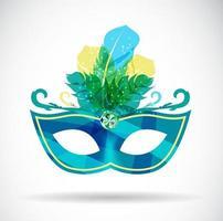 Maskerade Karneval Maske Symbol Vektor Illustration