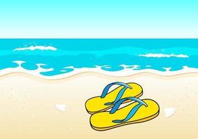 Sandalen am Strand vektor
