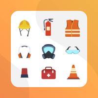 Flat personlig skyddsutrustning Vector Collection