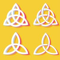 Triquetra-Symbol-Vektor-Pack vektor