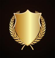 gyllene sköld retro design