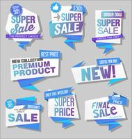 Moderna försäljningsbanners och etikettsamling