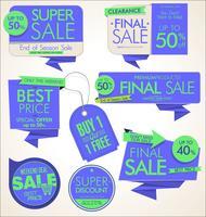 Weinlese-Art-Verkauf etikettiert Designvektorsammlung