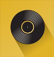 Konzept-Vektorillustration des schwarzen Vinylaufzeichnungsspeichertages flache