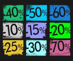 Grunge försäljning bakgrund retro design vektor