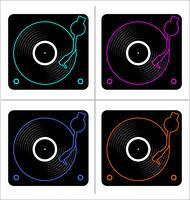 Konzeptvektorillustration der Vinylaufzeichnungsplatte flache einfache