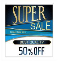 superförsäljningsbakgrund vektor