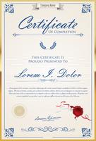 Certifikat eller diplom retro design mall vektor illustration