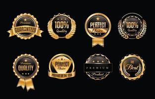 glänzende goldene Luxus-Vertrauensabzeichen vektor