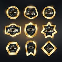 Vertrauenswürdiger Verkäufer Luxusabzeichen vektor