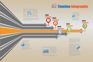 Business Roadmap Timeline Infografik wachsende Diagramme Design für abstrakte Vorlage Meilenstein Element moderne Diagramm Prozesstechnologie digitale Marketingdaten Präsentation Diagramm Vektor-Illustration vektor