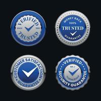 Verifizierter Badge-Sammlung vertrauen vektor