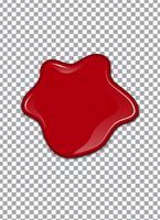 Blut oder Erdbeersirup oder -ketschup auf transparentem Hintergrund. Vektor-Illustration vektor