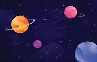 Weltraum- und Planetenhintergrund vektor