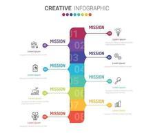 Infografik-Design-Vorlage mit Nummern 8 Option für Präsentation Infografik vektor