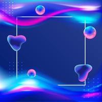 blau leuchtender flüssiger Hintergrund vektor