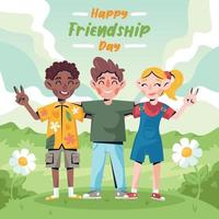 Kinder feiern Freundschaftstag vektor