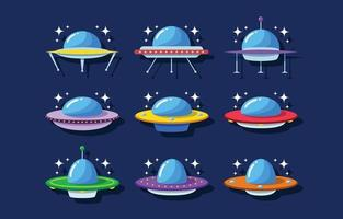UFO-Flachsymbol vektor