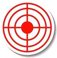 Aufkleberdesign mit rotem Fadenkreuz isoliert vektor