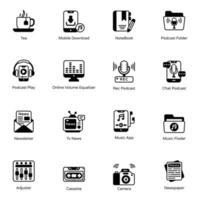 Podcast-Apps und Einsteller vektor