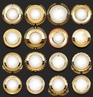 Gyllene retro etiketter märker ramar och band kollektion