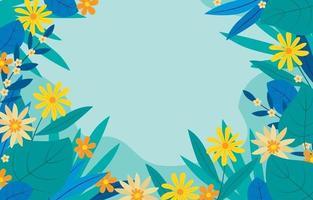 schöner Blumenrahmen vektor