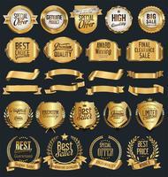Lyxig guld och silver designelement samling