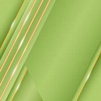Geometrischer grüner Hintergrund der Steigung mit Goldhervorhebungszusammensetzung vektor