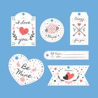 St. Valentinstag Etiketten Set Collection