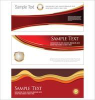Samling av horisontella banners mallar vektor illustration