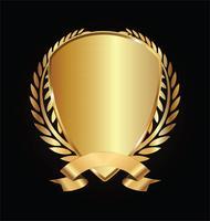 Gold- und Schwarzschild mit Goldlorbeer