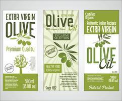 Vektor-Sammlung von Olivenöl-Etiketten vektor